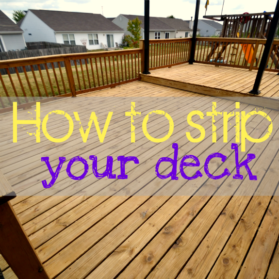 How To Strip A Deck With Images Staining Deck Deck Outdoor