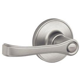 Schlage J Torino Satin Stainless Steelturn Lock Privacy Door Lever J40