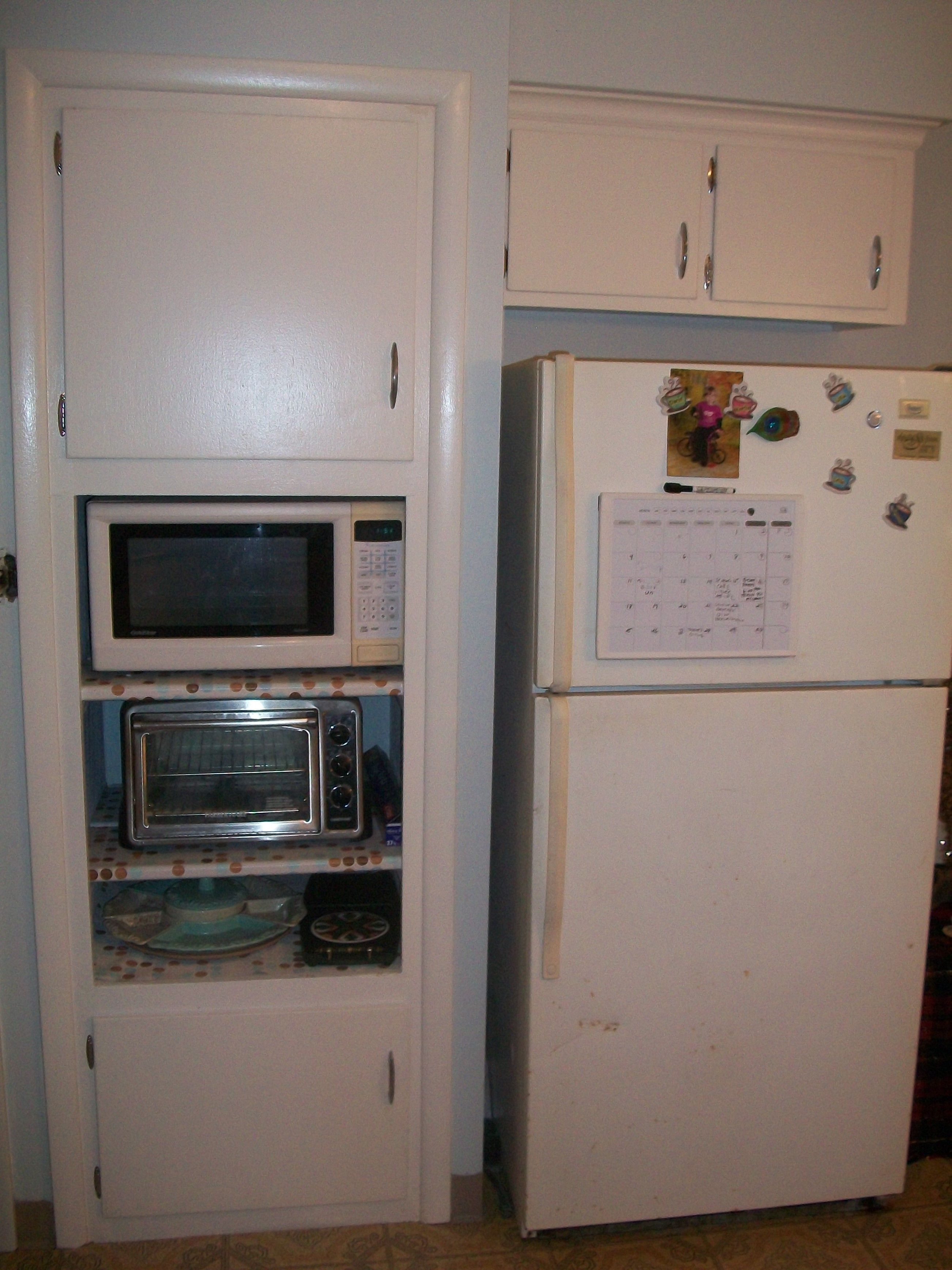 Replaced Built In Oven With Shelves For The Microwave And Toaster Still Have To Replace Old