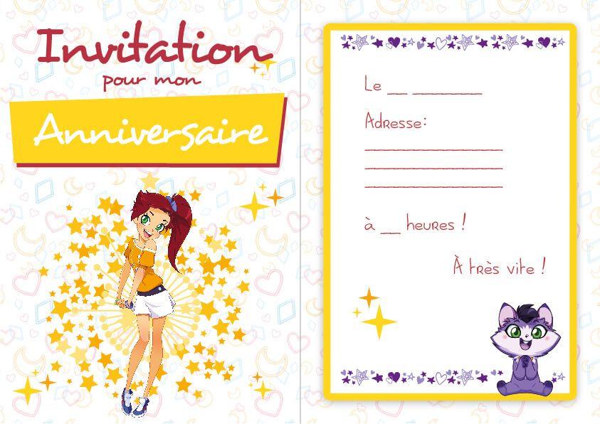 Invitation auriana lolirock lolirock party pinterest - Carte anniversaire simpson ...