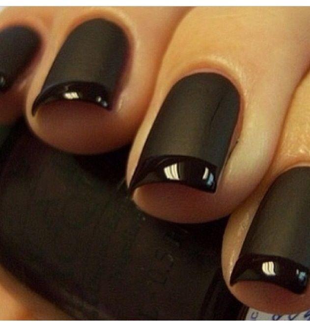 Matte black | Nail designs | Pinterest | Matte black, Manicure ideas ...