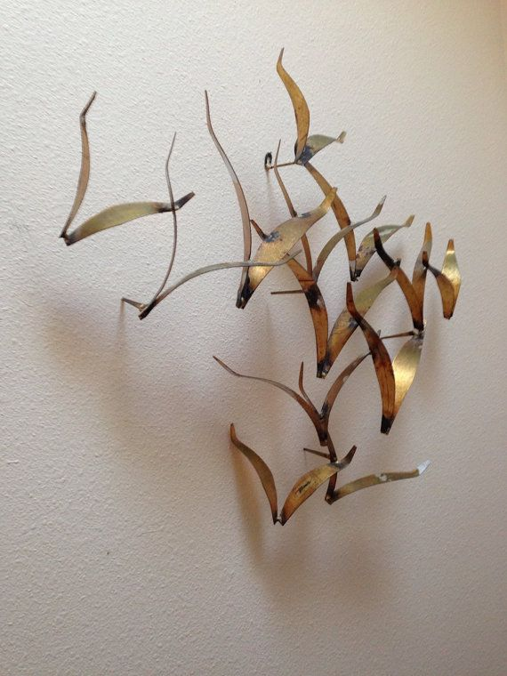 Midcentury William Bowie Metal Birds Wall Art by BellaRosaVintage ...