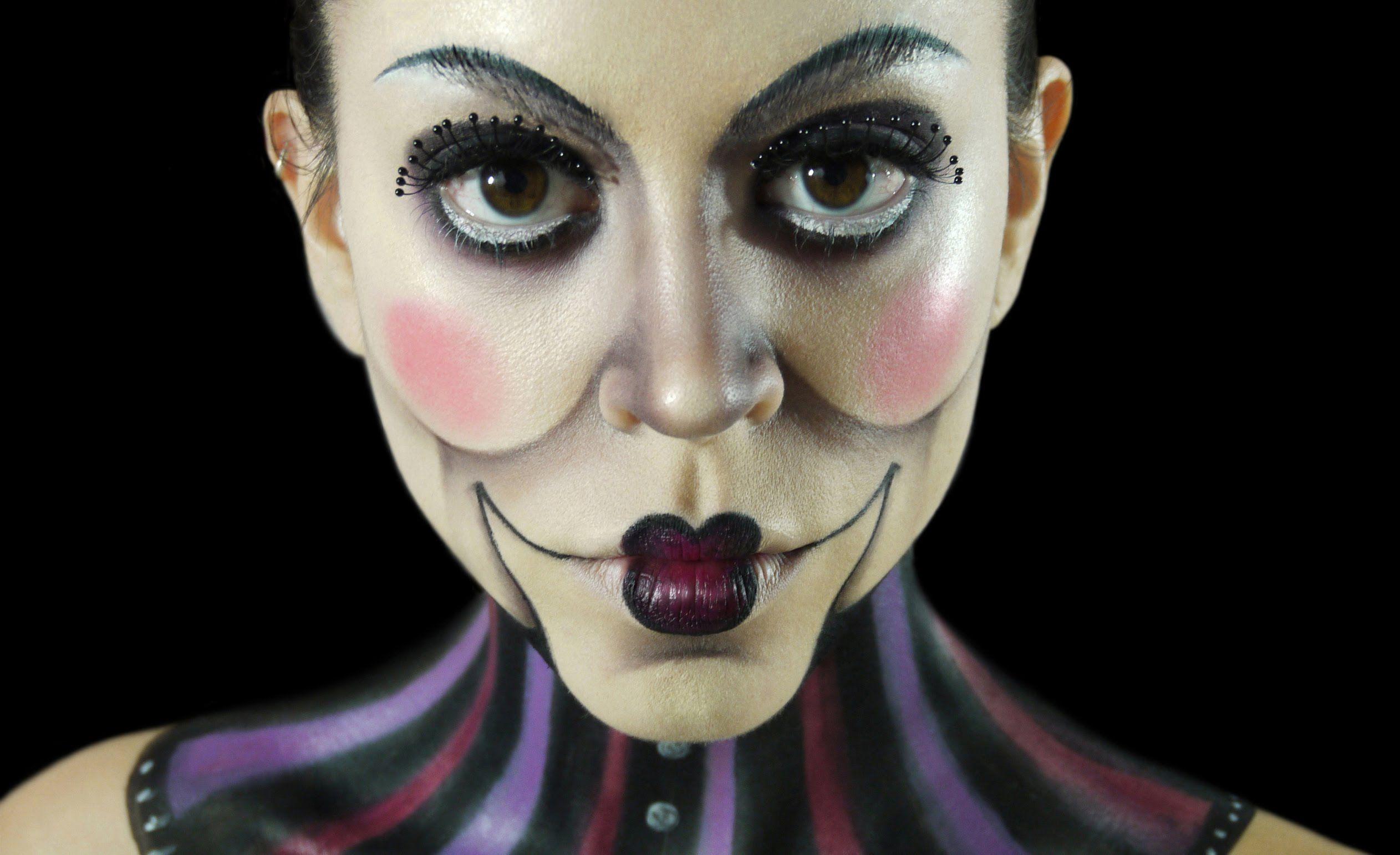 Ventriloquist Dummy Makeup Tutorial Claire Dim Halloween Costumes Makeup Zombie Makeup Tutorials Scary Makeup