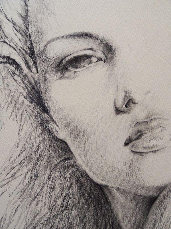 Disegni a matita tristi donna in 2019 pencil drawings for Disegno paesaggio marino