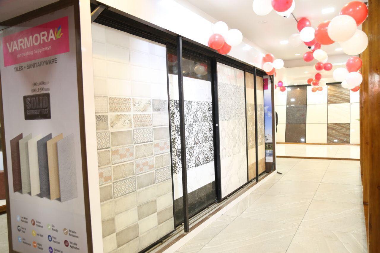 Varmora Boosts Its Pan India Presence With The Inauguration Of Its 109th Exclusive Tiles Showroom Raju Paints Sanitary Tile Showroom Showroom Display House