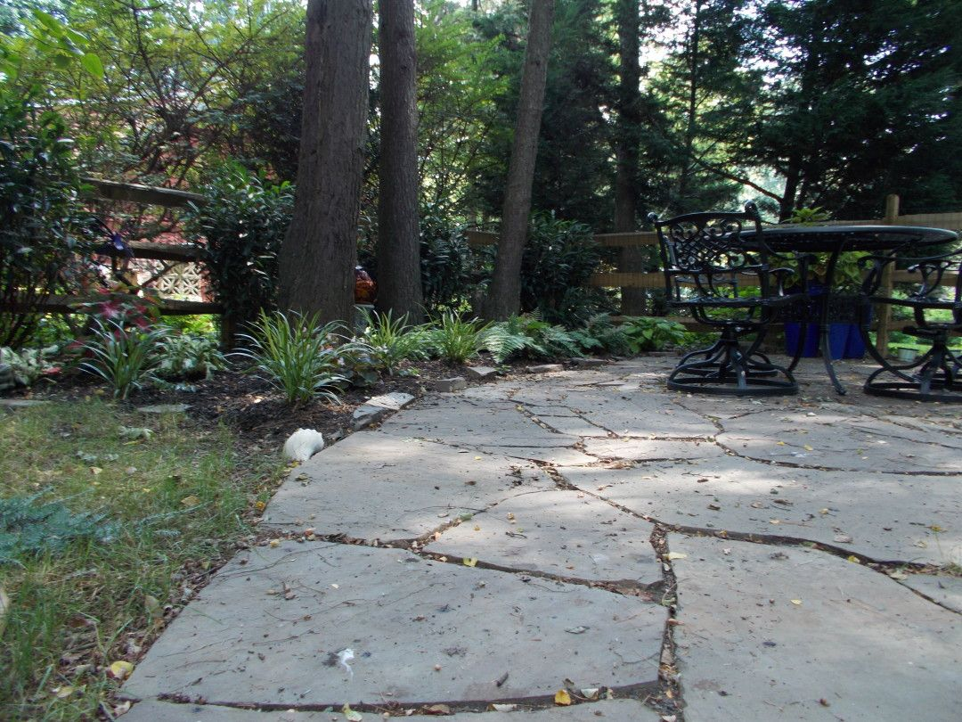 What To Put Between Flagstone Jointsu2013polymeric Sand Or Stone Dust? Natural Flagstone  Patio Advice