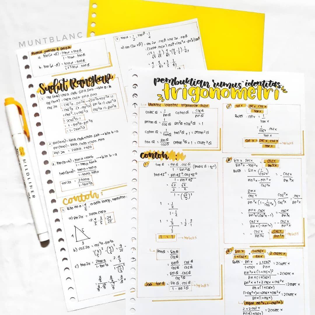 2 15pm Ok Gugel Cara Ngerapiin Feeds Instagram Tags Studygram Studyblr Studynotes Study Le Pelajaran Matematika Trigonometri Matematika