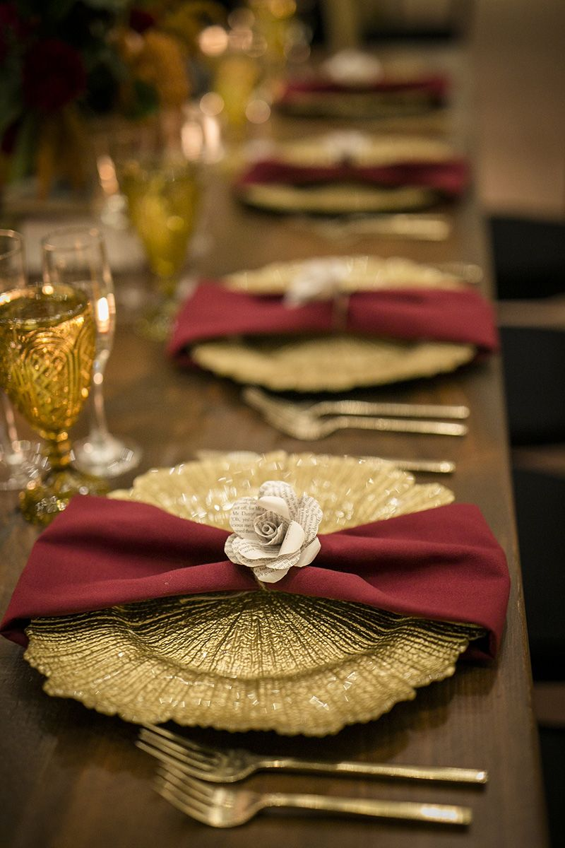 Paper Flower As A Napkin Ring Paper Art For Your Wedding