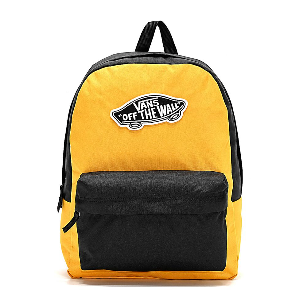 mochila amarilla vans