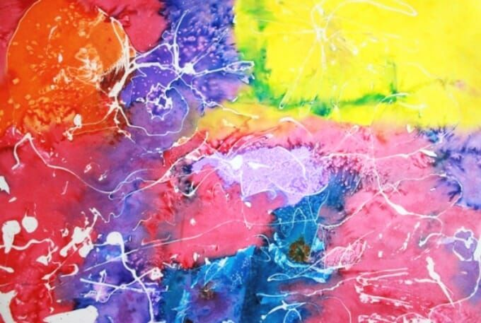 Saran Wrap And Paint Liquid Watercolor Poster Board Paint