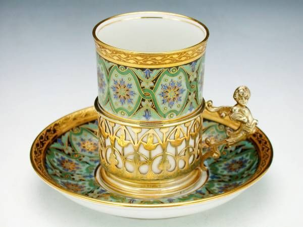 Captivating Porcelain Cup And Saucer Set By Limoges, France 1924 Photo