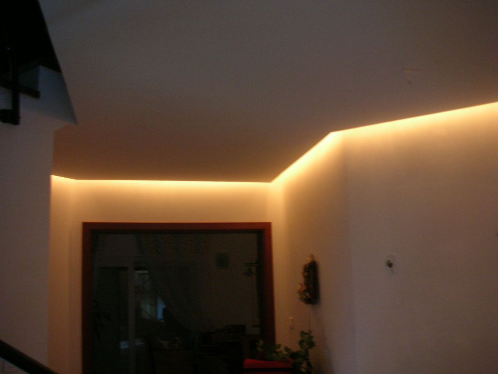 Photo clairage indirect du faux plafond de l 39 entr e house ideas pinterest eclairage - Lumiere faux plafond ...