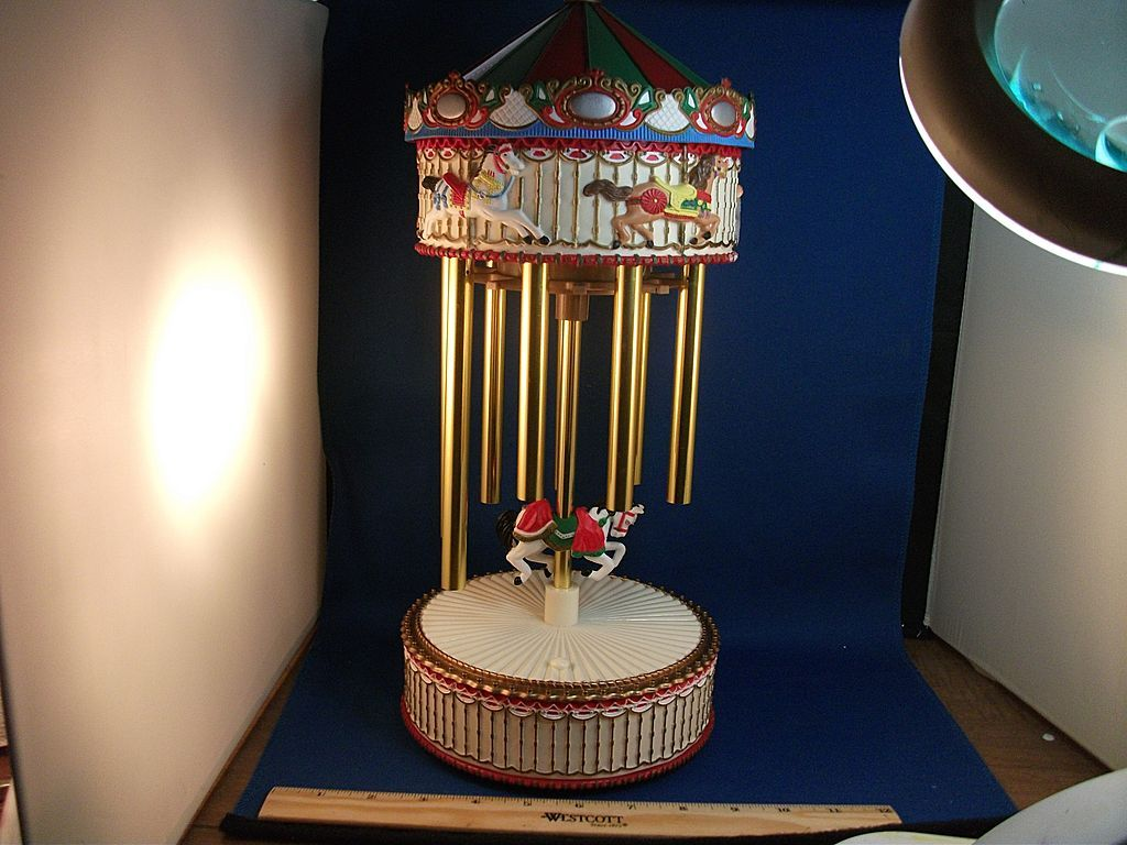 Unique Automatic Christmas Carousel Wind Chime Music Box