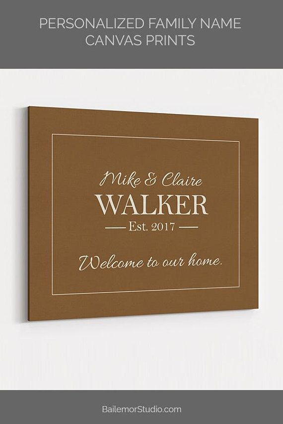 Personalized Family Name Sign, Anniversary Gift for Wife ...