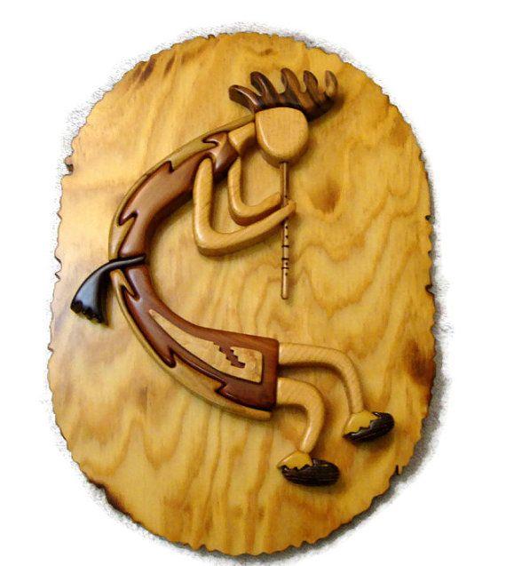 Kokopelli Intarsia Wood Art by zzbob on Etsy | Kokopelli style ...