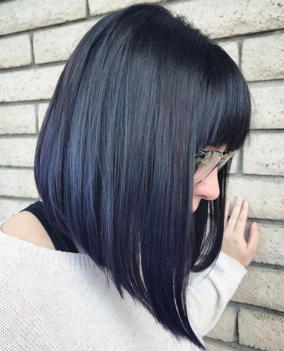 modern ways to style a long bob with bangs angled bobs bangs