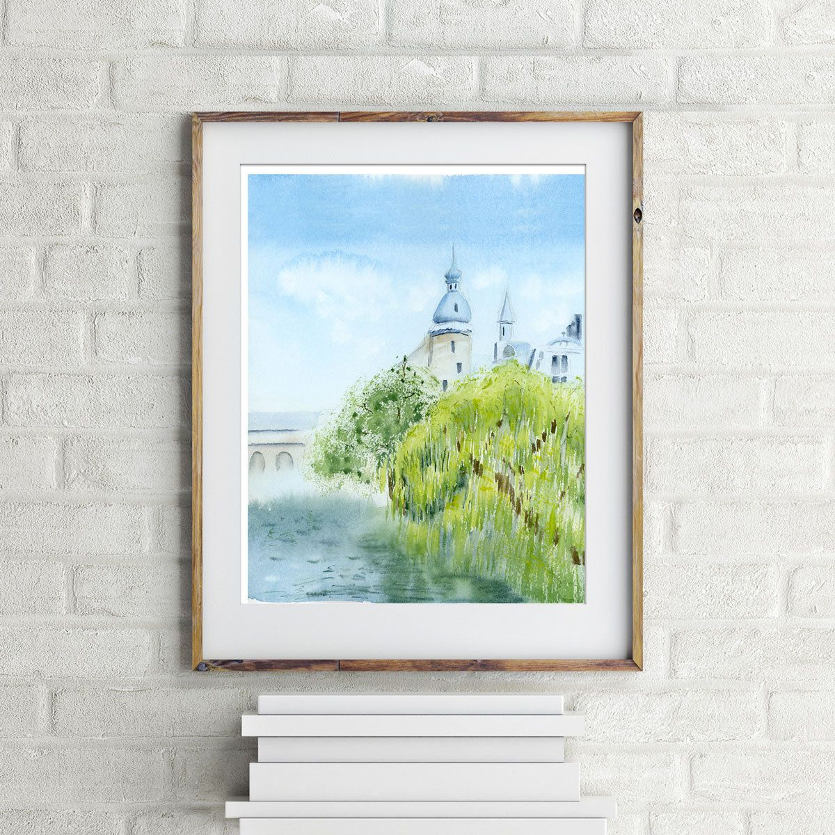 Amsterdam print Holland art Willow tree Watercolor painting Travel ...