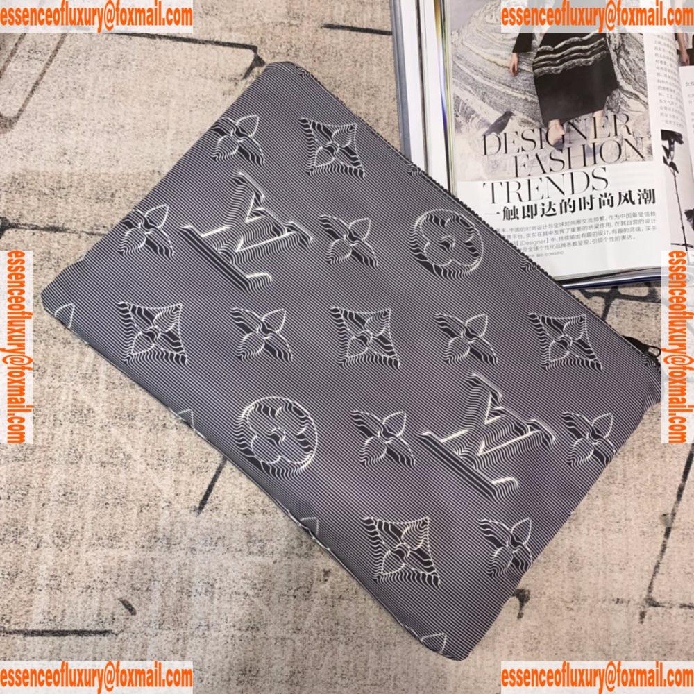 Louis Vuitton Reversible Pouch Monogram Clutch Bag M68777 34x25x1cm A103pp420 Aa121790 Monogram Clutch Clutch Bag Louis Vuitton Handbags