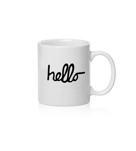 Hello Porcelain Mug by Sarah Jane on Scoutmob Shoppe