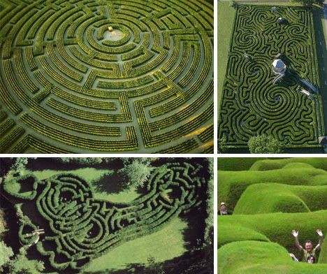 Amazing hedge mazes and labyrinths hedges lost and for Garden maze designs
