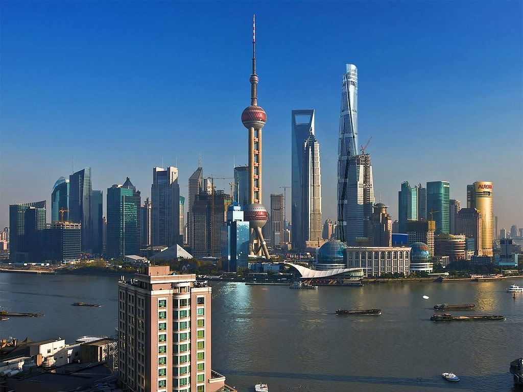Shanghai skyline china chinese landscapes exotic picturesque pastoral collection - Shanghai skyline wallpaper ...