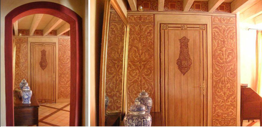 Hand painted walls by Calou Tur - www.caloutur.blogspot.com