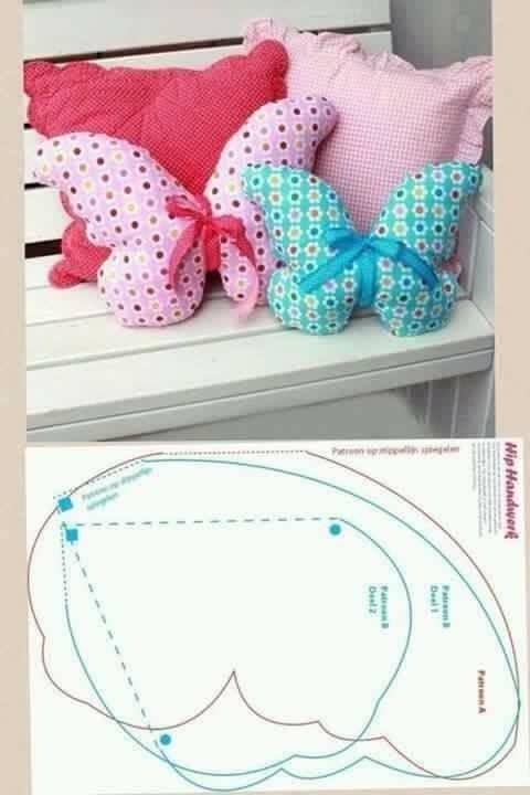 Birbirinden Sevimli Kendin Yap Yastık Modelleri #butterflies