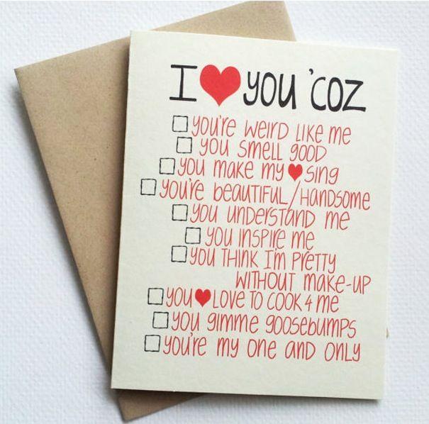 Funny Valentine Card for Boyfriend Valentines Day Card for – Funny Homemade Valentines Day Cards