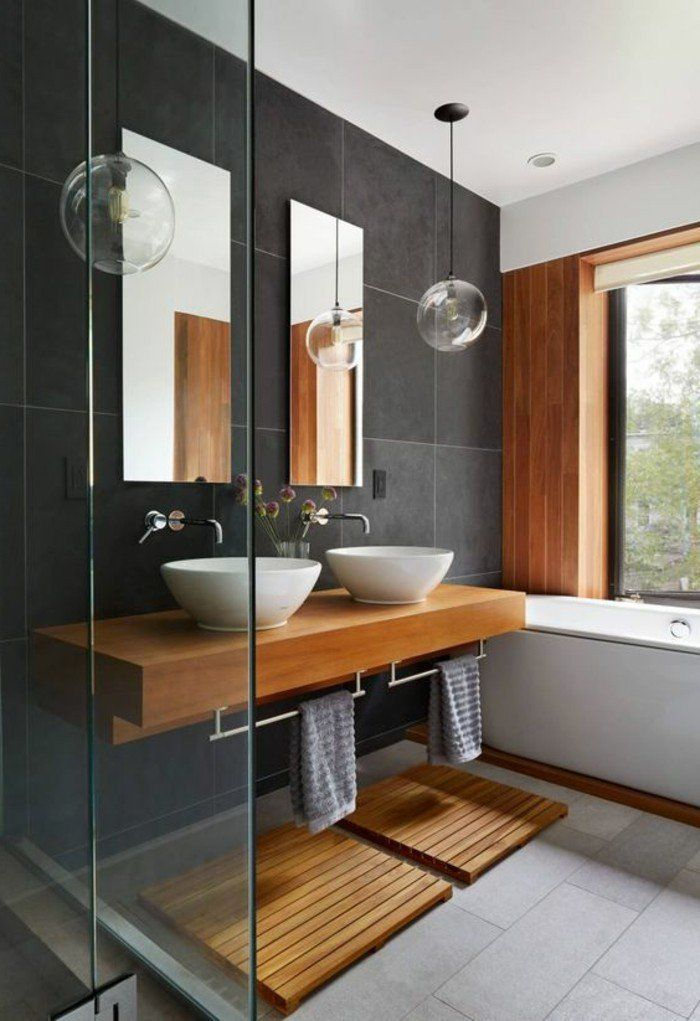 comment cr er une salle de bain zen salle de bains gris. Black Bedroom Furniture Sets. Home Design Ideas