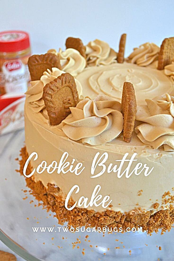 - Cookie Butter Cake ~ tender, moist and full of lovely cookie butter flavor! #twosugarbugs #cake #c...