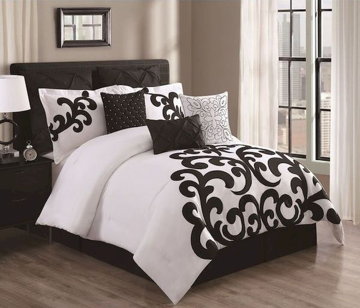 Black And White Bedding Sets For Your Dramatic Bedroom Comforter Sets White Bed Set White Comforter