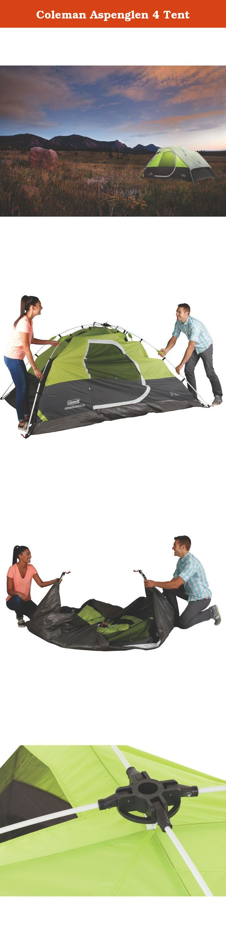 The Coleman Aspenglenn 4 takes the hassle out of setting up your tent! This 4 person freestanding tent has pre-attached collapsible poles that set up in ... & Coleman Aspenglen 4 Tent. The Coleman Aspenglenn 4 takes the ...