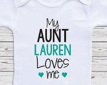 Personalized baby clothes my aunt loves me short or long sleeve personalized baby clothes my aunt loves me short or long sleeve baby one negle Image collections