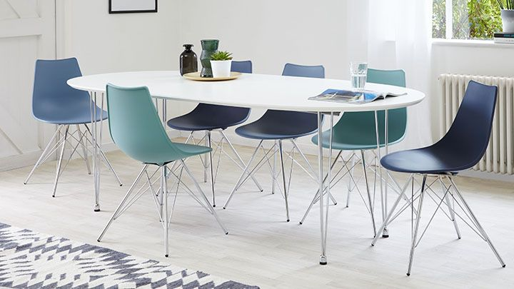 Pleasant Ellie White Oval Extending Table Dining Tables And Chairs Uwap Interior Chair Design Uwaporg