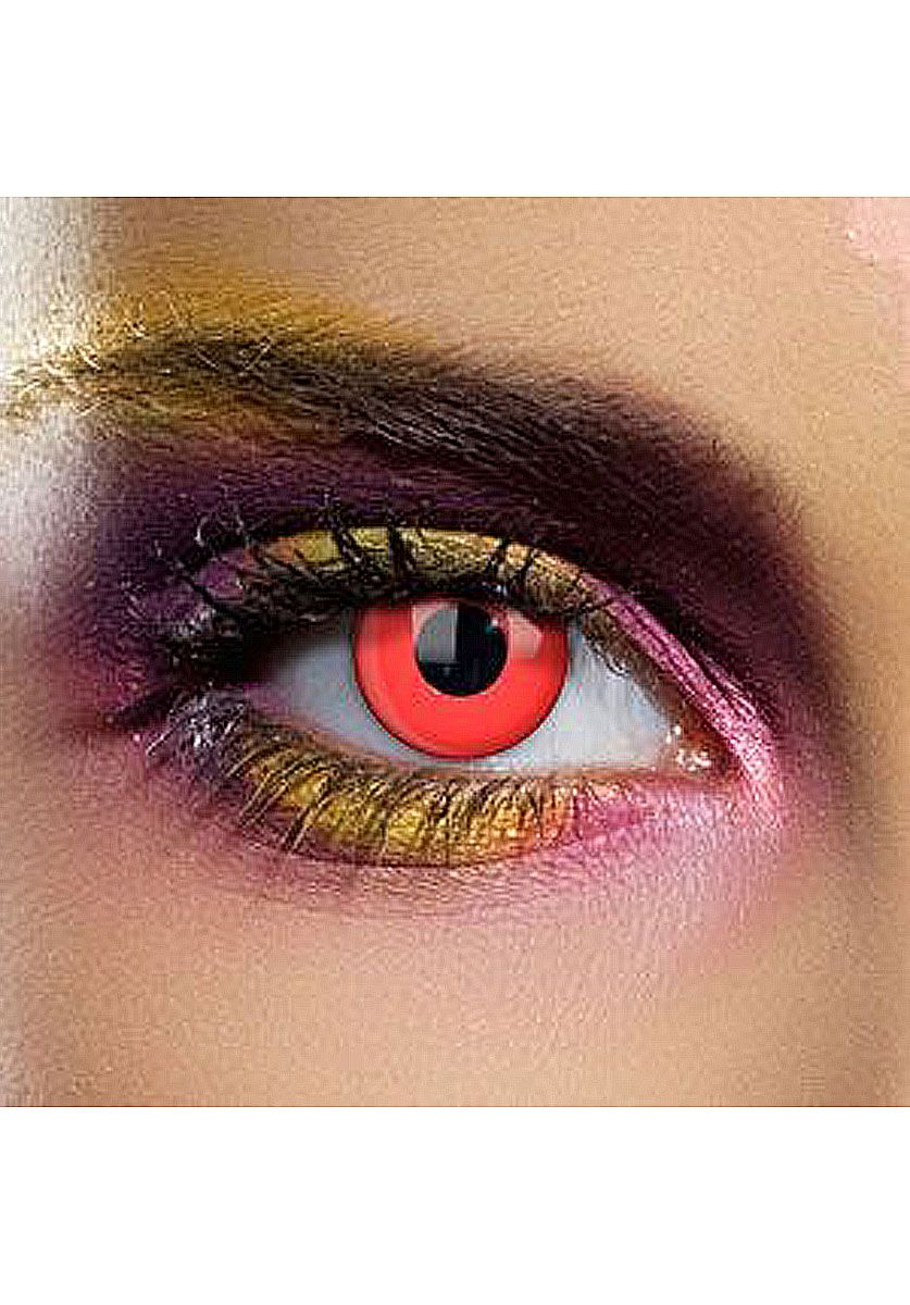 Coloured Contact Lenses - Red Eye Contacts (One Day, Pair) - Other ...