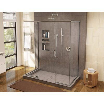 Tile Redi 60 X 36 Triple Threshold Shower Base With Drain Grate In