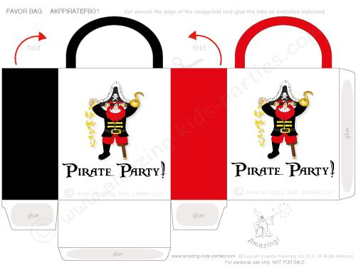 FREE Printable Pirate 'Booty' Bag
