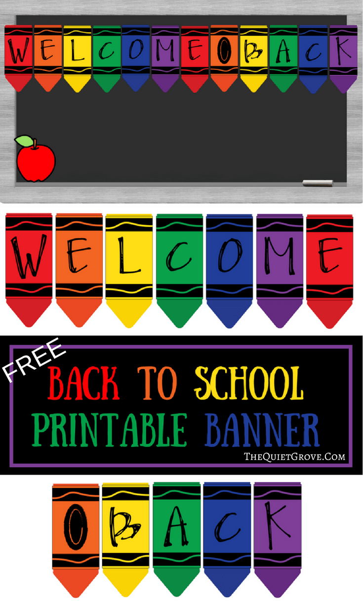 Free Printable Welcome Back to School Banner | class room ...