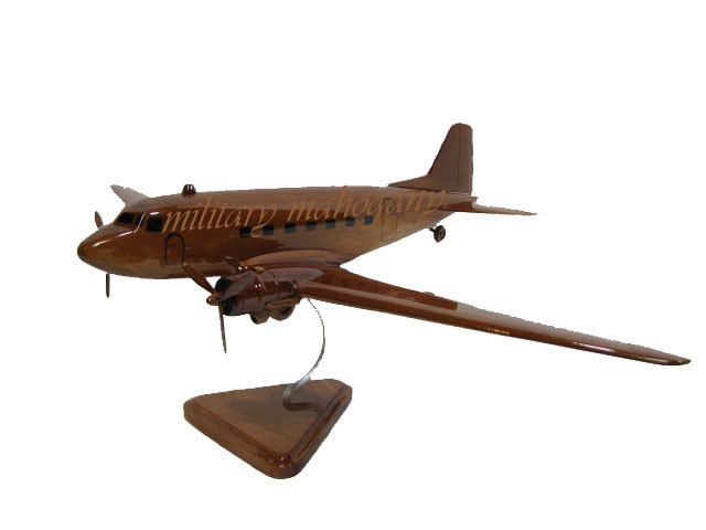 Douglas DC-3 Dakota C-47 Skytrain 101st 82nd WWII Airplane Wood Handcrafted Wooden Model Gift by MilitaryMahogany on Etsy