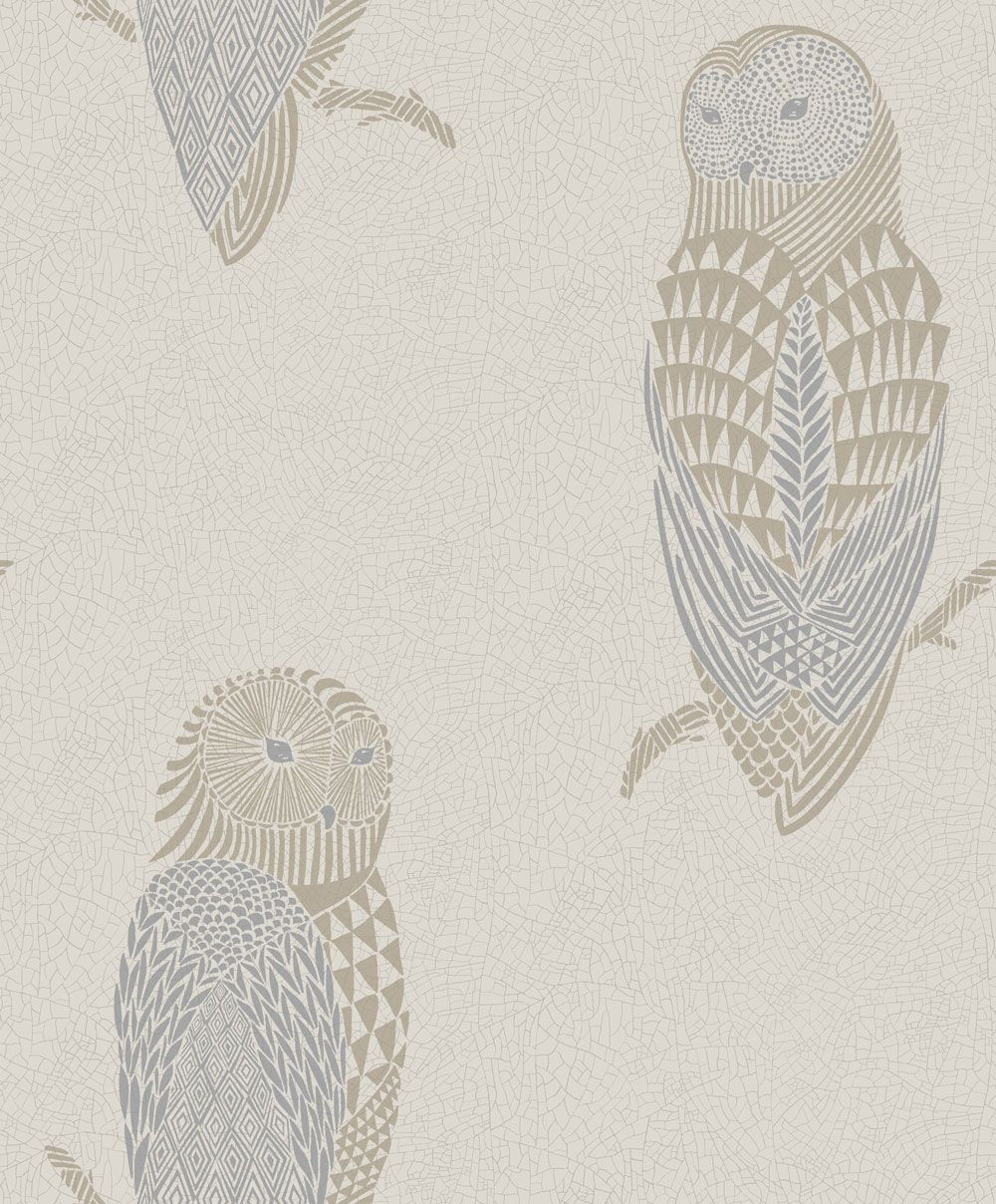 Brooklyn Blue wallpaper by Sandberg Beige wallpaper, Owl