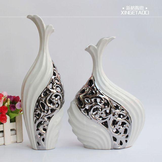Decorative Urns Vases Captivating Modern Silver Vase  Lakásberendezésekszép Függönyök  Pinterest Decorating Design