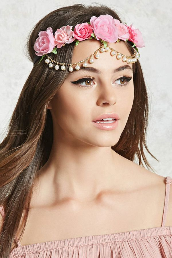 153c76eb7a91 FOREVER 21+ Floral Chain Headwrap