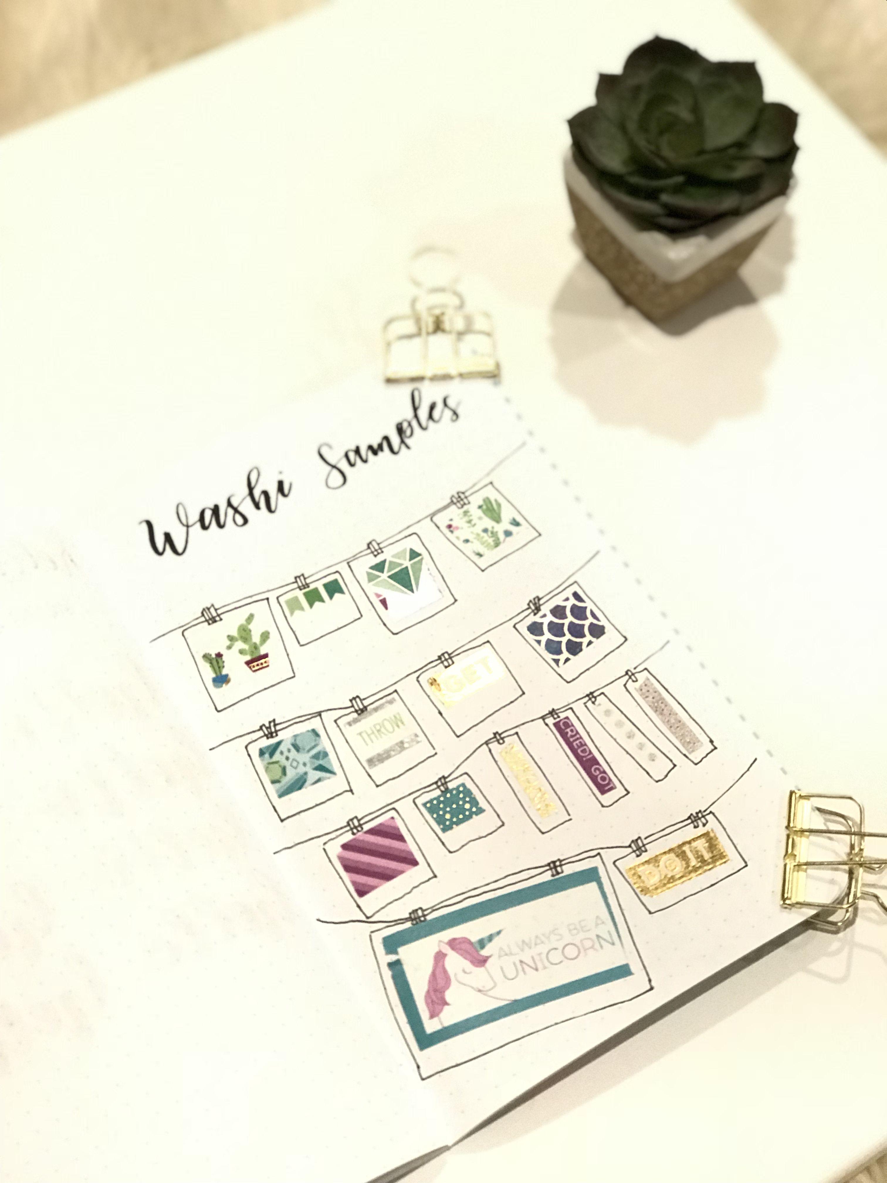 Bujo Washi Tape Days of the Week Weather Succulent Number Washi Calender Floral Washi Music Washi Grid Washi Bullet Journal DIY Planner