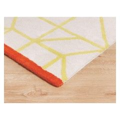 Kato Natural And Yellow Pile Rug 140 X 200cm Rugs Small Rugs Pile Rug