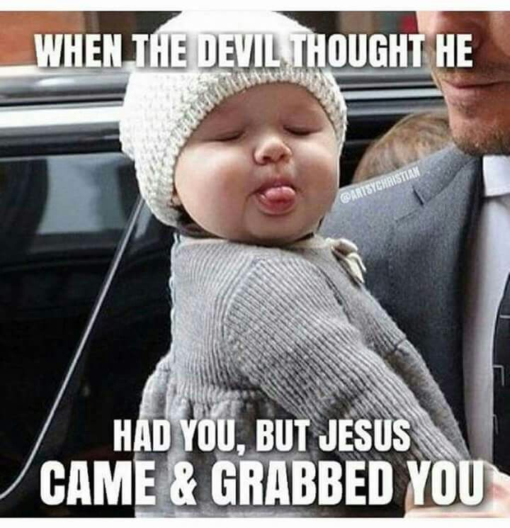 Haha Yep Back Off Satan Funny Christian Memes Church Humor Christian Humor