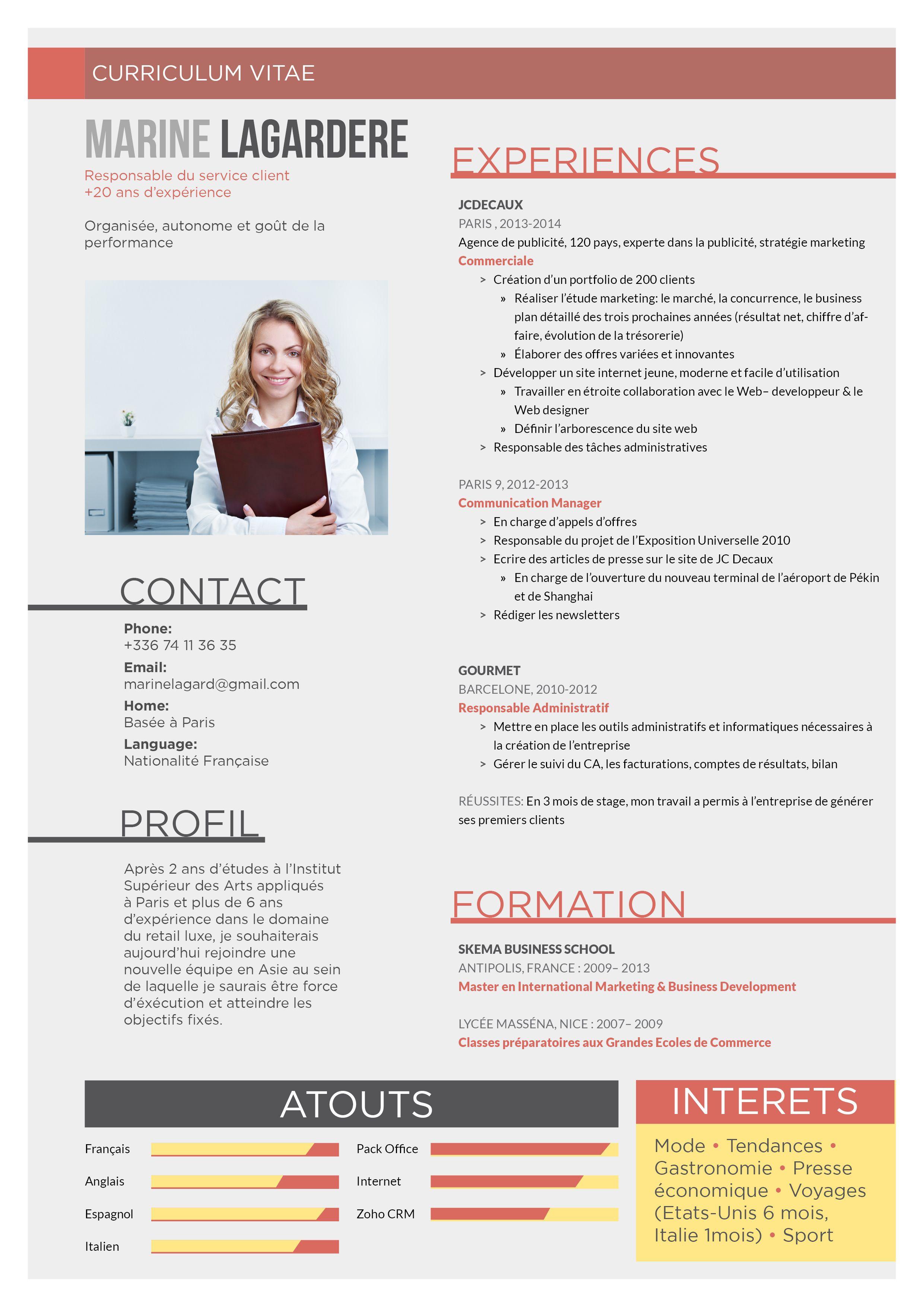 CV originaux Volontaire Modele de cv original
