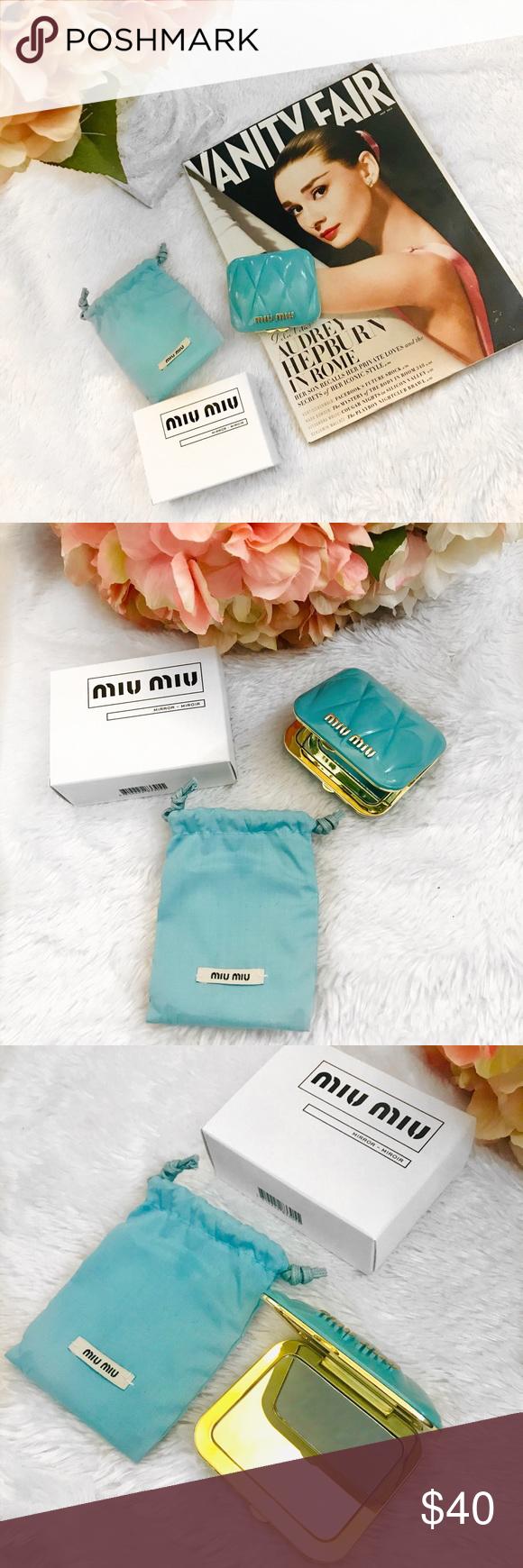Miu Miu Compact Pocket Mirror GWP Pocket mirror, Tiffany