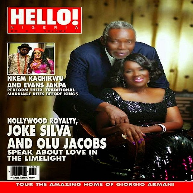 Olu Jacobs And Joke Silva On The Cover Of Hello Nigeria Mag Photos Super Couple Jokes Cover