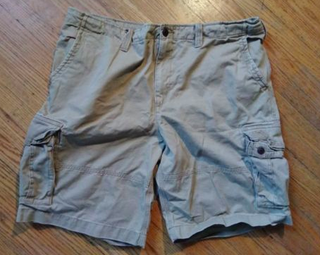 4ff497ed4a Society of One Big & Tall Men's Distressed Rumpled Dark Khaki Cargo Shorts-Sz  46