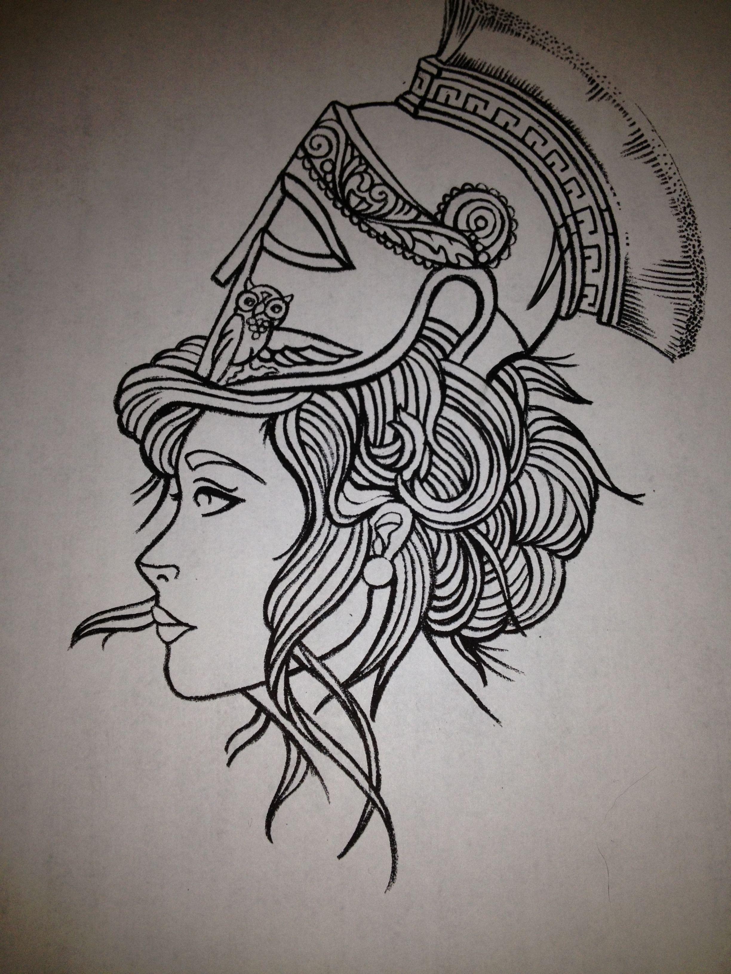 my athena quarter sleeve #athena #tattoos | Ink. | Athena ...